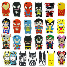 3D Cartoon Superhero Soft Silicone Back Case Cover For Apple Samsung HTC LG Sony