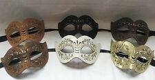 Leather Half Mask Designs Mardi Gras Halloween Men Women Face Cat's Eyes Real