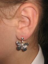 Pair BUTTERFLY  Earrings dangle hooks or studs **UK made** Free 1St Class Post**