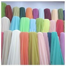 """180 ft Chiffon Fabric 60"""" Wide Roll Sheer Draping 40 Color Wedding Party Event"""