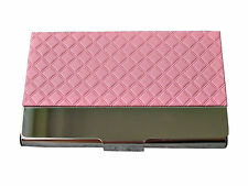 Plaid Pattern Pocket  Business Gifts Credit ID Card Holder Metal Frame Case New