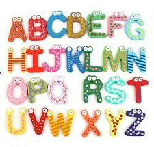 Cute Colorful Numbers Letters alphabet Kids Wooden Magnet Education Learning Toy