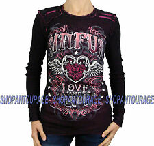 Sinful Constanza S3374 Women`s New Reversible Black/Pink Thermal By Affliction