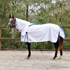 Capriole Ripstop Cotton Rose & R.Blue Check Summer Horse Combo Rug