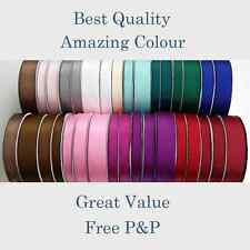 BEST QUALITY  1.5M Cut Lengths Satin Ribbon 15/20/25/38mm Craft Gift FREE P&P ==