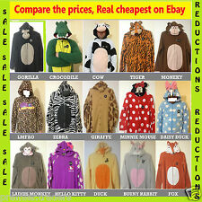 Adults mens ladies animal onesie sleepsuit pyjamas all in one babygrow Primark