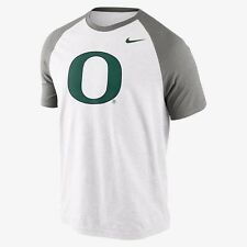 new mens 3XL Nike oregon ducks big play raglan style t-shirt football white/grey