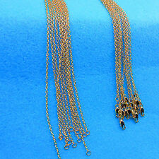 Wholesale Top 10PCS Fashion Making Jewelry Rolo 18K Gold Filled Necklaces Chains