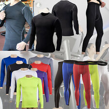 New Men Compression Base Layer Tight Pants Tops Shirt Under Skin Wear Sport Gear