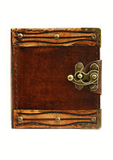 Engraved Plain Pattern Handmade Refillable Leather Journal / Diary / Notebook