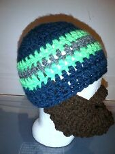 Beard Hat NFL Football Team Crochet Adult Teen Beanie Handmade 8 color beardsNEW