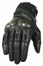 RIDEX G6 Carbon Knuckle  Motorbike Motorcycle Perforated Leather Gloves