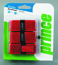 Two (2) Prince DURATRED Tennis, Squash, Badminton Overgrip 3 Pack