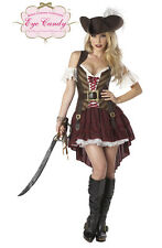 ADULT LADIES SEXY SWASHBUCKLER PIRATE FANCY DRESS COSTUME WENCH OUTFIT