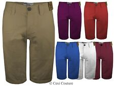 MENS SHORT LENGTH SUMMER COTTON CHINOS COMBAT CASUAL BOTTOMS 28-36