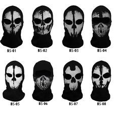 NEW Call of Duty Ghost Skull Face Mask Cosplay Balaclava Skateboard Bike Hood US