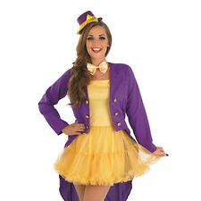 ADULT SEXY LADY FACTORY OWNER WILLY WONKA FANCY DRESS UP COSTUME SIZES: S-M-L-XL