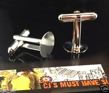 ✤ 4 or 10 MENS 18mm TALL SILVER PLATED CUFFLINKS BACKS 12mm BLANKS FINDINGS ✤✤