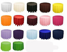 """10 60"""" Round Tablecloths Overlays 23 Colors Cocktail Bar Table 100% Polyester"""