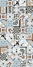 SAMPLES OF V & E AUTHENTIC VICTORIAN ENCAUSTIC EFFECT CERAMIC TILE COLLECTION