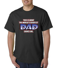 Worlds Greatest Dad #1 Best Father Of The Year T-Shirt S-5XL