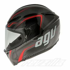 NEW AGV GT VELOCE TXT Black/Ducati Red Motorcycle Helmet Kevlar/Carbon XS-XL