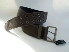 Womens Fashion Belt Wide Brown Canvas 2 Size Choice XL and XXL Free USA Shipping