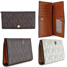Michael Kors Saffiano Leather Slim Wallet | Two Colors