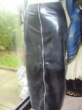 THE FEDERATION RUBBER LATEX LONG HOBBLE SKIRT  ZIP FRONT NEW  ALL SIZES