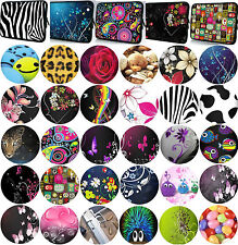 "10"" to""10.2"" TABLET NOTEBOOK NETPAD ZIPPED CASE SLEEVE COVER POUCH 30+DESIGNS!!"