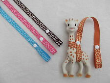 ♥SOPHIE THE GIRAFFE HARNESS♥TOY DUMMY STRAP/SAVER/HOLDER/LEASH♥BABY SHOWER GIFT