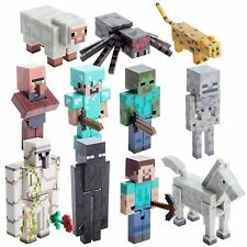 Minecraft Overworld Action Figures Loose Zombie Diamond Steve With Accessories