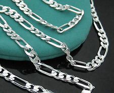 "Wholesale Lots 5pcs 925 Sterling Silver 2mm Italy Figaro Chain Necklace 16""-30"""
