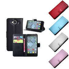 Luxury Leather wallet Case Cover For Alcatel One Touch Idol Mini OT6012X Special