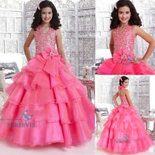 Stunning Birthday Dance Party Ball Gowns Cupcake Pageant Prom Flower Girls Dress