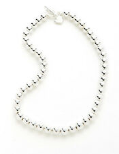 RALPH LAUREN Mirrored Bead Silver Tone Toggle Necklace! NWT! SHINING! SIGNED