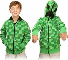 Minecraft Creeper JJ  Boys Kids Cool Game Cosplay Zip-Up Coat Jacket  Hoodies