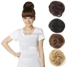 Hot Ladies Pony Tail Clip in/on Hair Bun Hairpiece Hair Extension Scrunchie D89