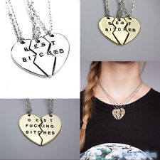 New Best Bitches Best Friends Gold/Silver 2Pcs/3Pcs Break Heart Pendant Necklace