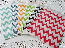 25 Food Safe Favor Paper Bags Colorful Chevron Striped Craft Bag Birthday Party