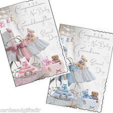 Granddaughter or Grandson New Baby Birth Greeting Card Boy Girl Grandparent