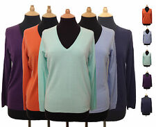 Ladies Marks & Spencer M&S Cashmilon™ Soft Knit VNeck Jumper Sweater UK 8 - 22