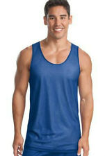 SportTek Sleeveless Reversible Mesh Basketball Jerseys Tank Adult Royal White