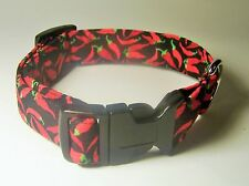 Wet Nose Designs Red Hot Peppers Dog Collar