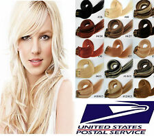USA STOCK Remy Clip In Hair 100% Real Human Hair Extensions,16In.-30In.New Shop!