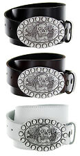 Skull Belt Italian Belt Buckle Genuine Leather Casual Jean Belt