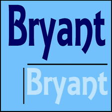 Bryant Wall Sticker Boys Name -12x28cm Bike Helmet Art Vinyl Decal Decor Car