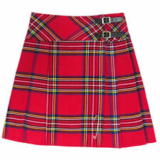 "New Royal Stewart Scottish Highland Red Plaid 20"" Kilt Skirt - US Size 4 - 28"
