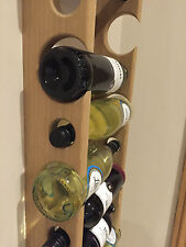 Solid Oak Space Saving Wine Rack UK Made Not Cheap Import !