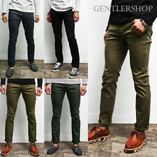 Mens Fashion Basic Slim Fit Skinny Span Pants, GENTLERSHOP